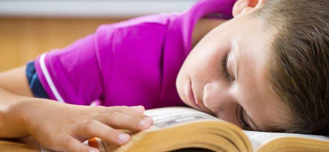 NIño duerme en clase