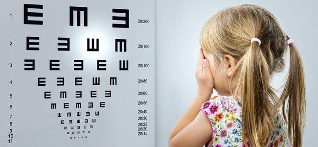 La salud de los ojos de los niños