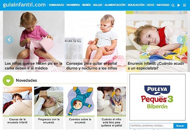 Web sobre la enuresis infantil
