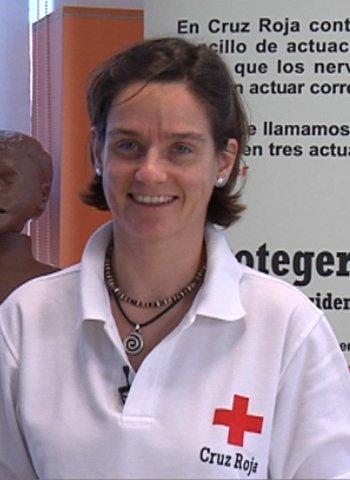 Vega Orozco, experta en Primeros Auxilios, de Cruz Roja