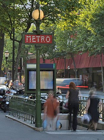 Metro en París