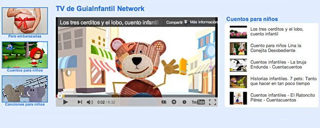 GuiaInfantil Network. La televisión en Internet para padres e hijos